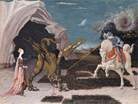 St George and the Dragon by Uccello, National Gallery, London